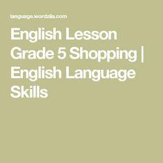 English Lesson Grade 5 Shopping | English Language Skills