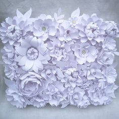 paper flowers wall art - Chanel Runway Inspired paper flower background - designed by Dragonfly Expression - www.weddingpaperflower.com