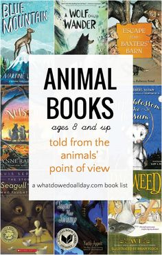 Top 10 best animal books for ages 8 and up. Middle grade novels written from the animals' perspective. Mostly realistic animal stories.