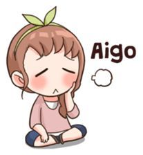 Equivalent à un soupir en français Anime Chibi, Bts Chibi, Kawaii Anime, Kawaii Chibi, Anime Korea, Korean Anime, Korean Phrases, Korean Words, Pop Stickers
