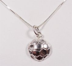 STERLING SILVER WORLD CUP SOCCER BALL SPORTS GAME FUTBOL GOAL PENDANT NECKLACE #Unbranded #Pendant