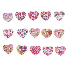 100pcs/lot Cute Heart Wooden Buttons Mixed Sewing DIY Craft Scrapbooking K1B in Crafts, Sewing, Closures & Connectors | eBay!