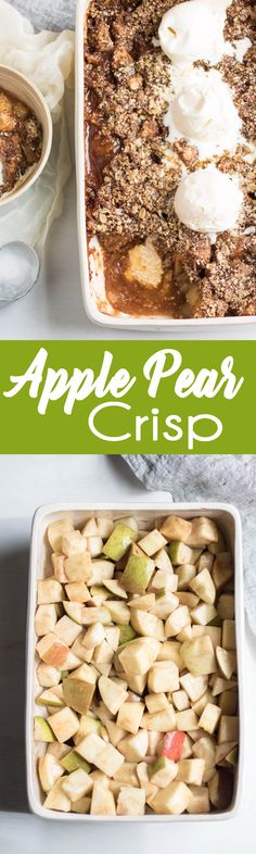 My favorite fall dessert! This Apple Pear crisp is a family favorite.