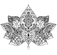 lotus flower drawing for future henna? Lotus Tattoo, Mandala Tattoo, Mandala Art, Tattoo Art, Time Tattoos, Cool Tattoos, Tatoos, Henna Designs, Tattoo Designs