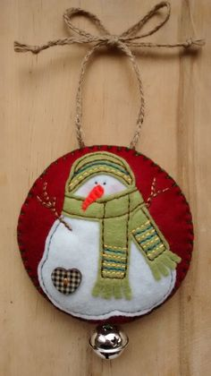 Felt Snowman Christmas/Festive hanging decoration/tree ornament