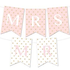 Free Printable Glitter Polka Dot Banner Maker from @chicfettiwed