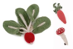 Knitted Veggie Brooches from Oeuf