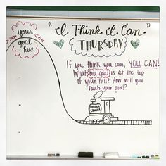 I Think I Can Thursday-white board messages Future Classroom, School Classroom, Classroom Activities, Classroom Ideas, Art Activities, School Fun, Morning Board, Daily Writing Prompts, Responsive Classroom