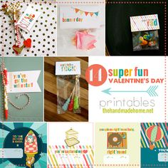 14 super fun valentine's day printables - the handmade home