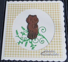Fathers day card with Tattered lace owl die