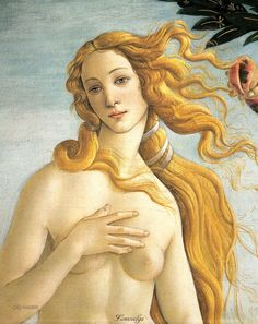 Sandro Botticelli The Birth of Venus detail , Galleria degli Uffizi, Florence. Read more about the symbolism and interpretation of The Birth of Venus detail 3 by Sandro Botticelli. Italian Renaissance Art, Renaissance Paintings, Art And Illustration, Art Amour, The Birth Of Venus, Beauty In Art, Italian Painters, Fine Art, Sandro