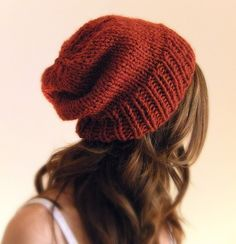 chunky slouchy hat.