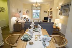 Dining table at the Plum Tree Cottage