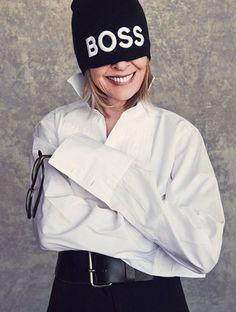 Diane Keaton perfectttttt *-* Love her! Diane Keaton, Smile Icon, Paolo Roversi, Margaret Atwood, Iconic Women, White Shirts, Her Style, Role Models, Amazing Women
