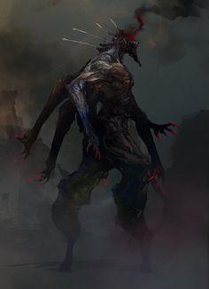 Aaron Nakahara: .@Sketch_Dailies #Sketch_Dailies The #Gegenees felt a bit more frightening missing the top of its head :)