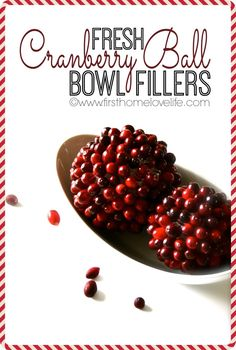 DIY Fresh Cranberry Balls