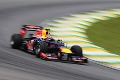 Mark Webber of Australia and Red Bull Racing drives during the final practice session prior to qualifying