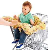 Wonderful way to protect your baby from whatever could have been on that shopping cart! Avon's Tiny Tillia Shopping Cart Cover!