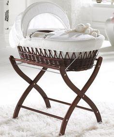 Love this White Dark Wicker #MosesBasket  by Izziwotnot on #offer at #zulilyUK today! #baby #sleep #newborn #babyshower