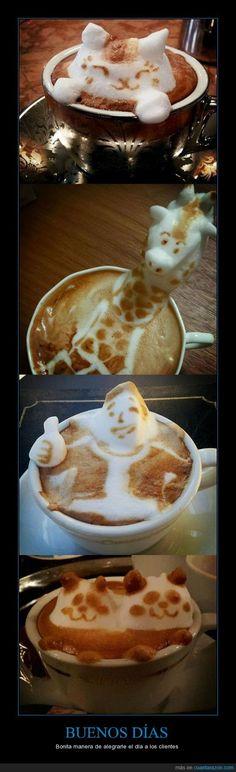 Arte 3D con cafe