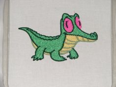 Gummy the Alligator Embroidery Patch. $15.00, via Etsy. <---WANT SO BADLY.