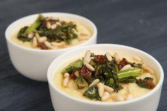 Creamy Parmesan Polenta With Broccoli Rabe