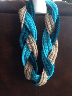Crochet Braid Scarf on Etsy, $25.00