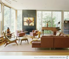 Amy Lau Design Mid-century Modern Living Rooms