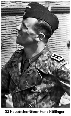 SS-Hauptscharführer Hans Höflinger taken in France 1944. He was a crew member with Tiger tank ace Michael Wittman Tiger in Normandy.
