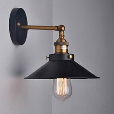 Kiven-American Country Style Retro Wall Lights Sconces Aged Steel Finished Apply in Hallway Stairs Balcony Wall Lamp - - Amazon.com
