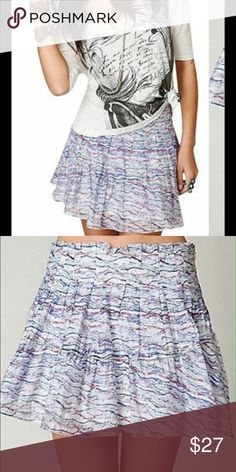 """Free People Skirt, size 4 Free People Skirt , light. Colored """"Party Animal"""" I think Free People Skirts Mini"""