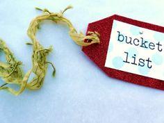 Tag to hang on your Christmas Bucket List.