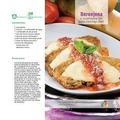 Berenjena a la Parmesana, con queso Manchego