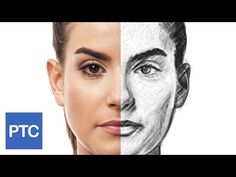 How To Create a Pencil Drawing From a Photo In Photoshop - Line Drawing Effect - YouTube
