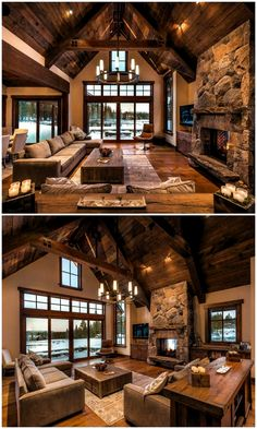 Rustic Living Rooms Ideas - Rustic style is a preferred interior design specifically matched to people who desire an one-of-a-kind, handmade items, house products and invaluable traces of time. Source by enjoyingthesecondhalfoflife ideas design Interior Design Programs, Home Interior Design, Interior Ideas, Rustic Home Design, Rustic Style, Rustic Modern, Modern House Design, Rustic Wood, Industrial Design