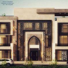 Exterior modern design color schemes ideas for 2019 House Front Design, Modern House Design, Facade Design, Exterior Design, Islamic Architecture, Architecture Design, House Elevation, Front Elevation, Facade House
