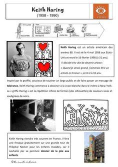 Le dernier projet art visuel de l'année portera sur l'œuvre de Keith Haring .    Le diaporama pour l'étude des œuvres :  Modèles de silhouettes à reproduire, décalquer, imprimer,...