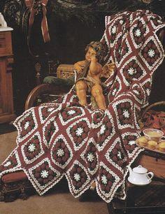 Snowflakes Christmas Afghan Crochet Patterns