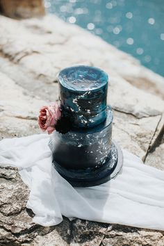 Black Wedding Cake | Sultry Summertime Elopement Inspiration by Leighanne Herr Photography Black Weddings, Black Wedding Cakes, Elopement Inspiration, Summertime, Romantic, Pure Products, Photography, Photograph, Romantic Things