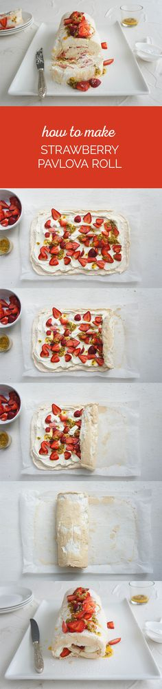 Strawberry Pavlova Roll