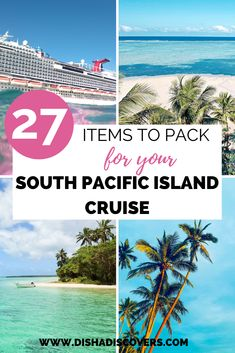 Packing Tips and Cruise Packing List: 27 Items to Pack for Your South Pacific Island Cruise. Are you going on a South Pacific Islands cruise, but you have no idea what to pack? Read my cruise packing Packing List For Cruise, Cruise Tips, Cruise Travel, Cruise Vacation, Travel Packing, Packing Lists, Travel Tips, Travel Hacks, Travel Deals