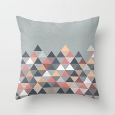 Nordic Combination IV Throw Pillow by Mareike Böhmer Graphics - $20.00