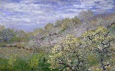 Trees in Bloom - Arbres en fleurs Poster Print by Claude Monet | Fruugo