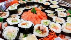 Delicious Large Gourmet Sushi And Sashimi - Party Food Melbourne, Yrs – PFM - Events & Catering Delicious Catering, Delicious Desserts, Sushi Fillings, Grain Free, Dairy Free, Almond Flour Pancakes, Vegan Sushi, Logo Food, Wedding Catering