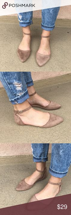 ✨NEW✨ BRITT Closed Toe Ankle Strap Flat Adorable and extremely comfortable this Suede flat is a must have for any wardrobe!!! Runs true to size for toe room or if you like them snug go down a half size. Limited size quantities so get them now!!    ✖️No trades, thank you!   Bundles welcome!   PRICE FIRM unless bundled   My measurements in Bio   Happy poshing and please let me know how I can better serve. Shoes Flats & Loafers