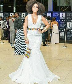Nomzamo Mbatha X Orapeleng Modutle Xhosa Attire, African Attire, African Wear, African Women, African Dress, African Print Fashion, African Fashion Dresses, Zulu Wedding, Ethnic Wedding
