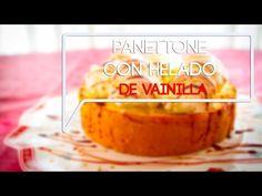 Panettone con helado de vainilla. Receta muy navideña y muy fácil - YouTube