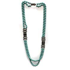"Heidi Daus Double Deco Decadence Crystal 40.25"" 2 Strand Beaded Necklace #HeidiDaus #StrandString"