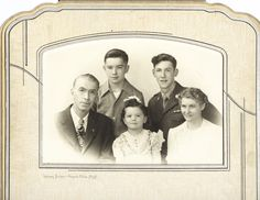 My grandparents, who inspired the story Bridal Whispers, with their children. Bridal Whispers is included in the book, The Lassoed by Marriage Romance Collection from Barbour Publishing.