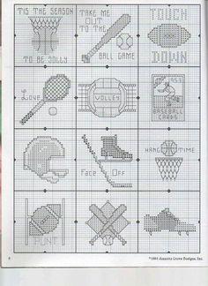 Sport Tiny Cross Stitch, Cross Stitch Letters, Cross Stitch For Kids, Cross Stitch Bookmarks, Cross Stitch Designs, Stitch Patterns, Cross Stitching, Cross Stitch Embroidery, Baseball Cross